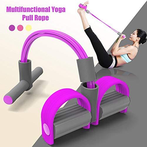 Upgrade 4 Tubes Multifunktions-Leg-Exerciser- Sit-up Bodybuilding Expander - Elastische Zugseil Trainingsgeräte- Pedal Resistance Band