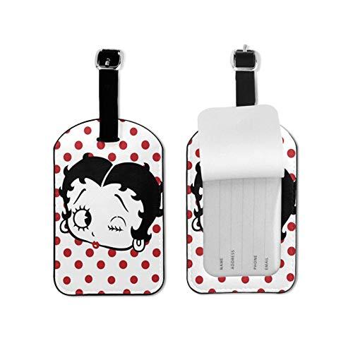 Betty-Boop Etiquetas de equipaje para viajes de negocios tarjetas de crédito titulares de tarjetas de nombre organizador pu cuero maleta etiqueta