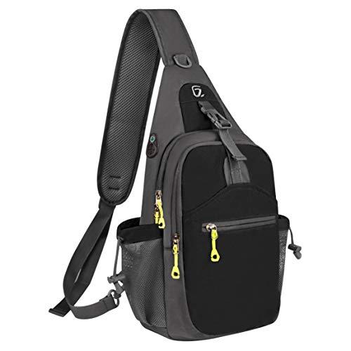 G7Explorer Waterproof Lightweigh Breathable Chest Bag Sling Shoulder Backpack Black