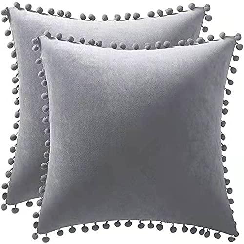 Almohada, Almohada de Diseño Ergonómico, Adecuada para Todos los Durmientes -Gris Claro_45 * 45cm