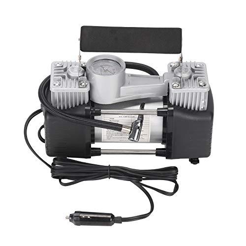 AllRight 12V Luftkompressor Luftpumpe Doppelzylinder Druckluft 150PSI mit Verlängerung Luft Schlauch Batterieclip für Auto LKW Wohnmobil Motorrad Fahrrad