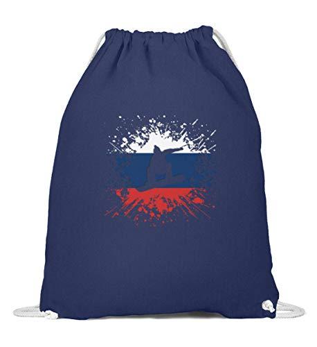 Bolsa de deporte para tabla de snowboard de Rusia   RU Eissport bandera de países, Splash Gymsac, Mujer, 0, Azul (French Navy), 37cm-46cm