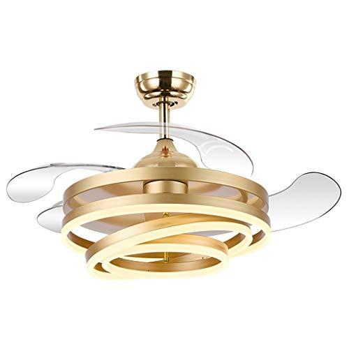 Ventiladores para el techo con lámpara 42' Techo moderno ventilador con cambio de color de luz LED de control remoto que amortigua la luz de techo del ventilador for Comedor Dormitorio Ventilador Luz