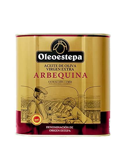 OLEOESTEPA - Aceite de Oliva Virgen Extra Arbequina - Lata 2,5 Litros