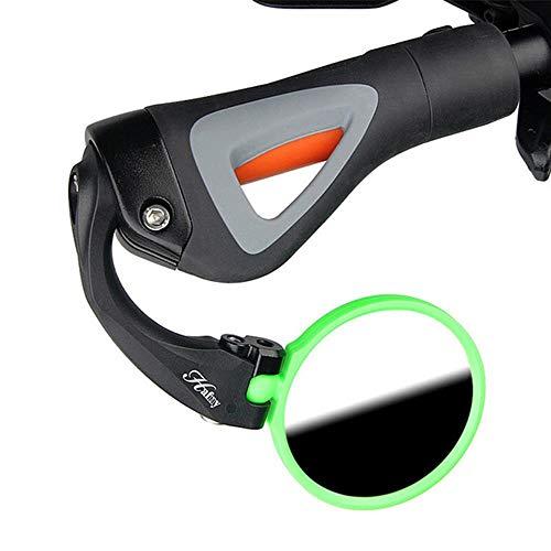 LQLQL Espejo de Acero Inoxidable Plegable Ajustable Hafny Mini Handiness Firmeza Espejo retrovisor de Bicicleta de montaña