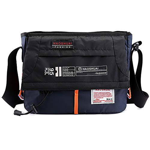 Small Sport Messenger Bag Light Cycling Waterproof Shoulder Bag (Dark Blue)