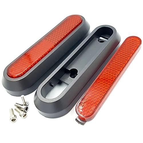 Vestigia - 2x Cubierta de rueda lateral trasera y juego de reflectores de plástico para Xiaomi M365 1S Essential Pro2 Scooter eléctrico - Piezas de repuesto para E-scooter (rojo)