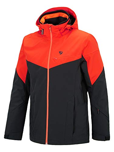 Ziener Herren Toccoa Man (Jacket Ski Snowboard-Jacke/Atmungsaktiv, Wasserdicht, Black.New red, 54