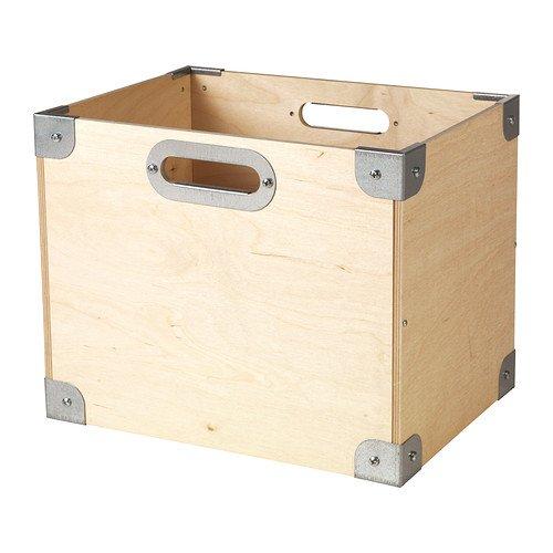 IKEA snack - caja de madera contrachapada / galvanizado: Amazon.es ...