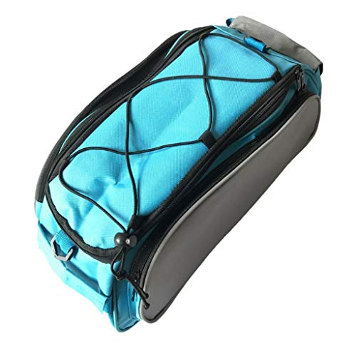 perfeclan Portabicicletas Bolsa Superior Equipaje Almacenamiento de Bicicletas Paquete de Baúl Trasero Bolso Paquete de Hombro - Azul