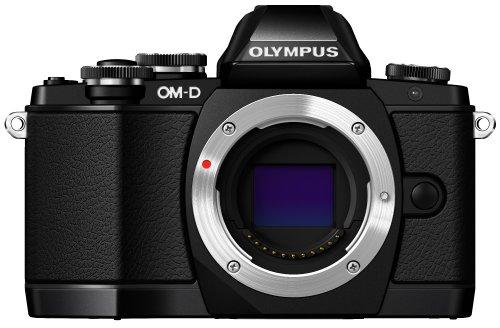 Olympus OM-D E-M10 Systemkamera (16 Megapixel, Live MOS Sensor, True Pic VII Prozessor, Fast-AF System, 3-Achsen VCM Bildstabilisator, Full-HD, HDR) nur Gehäuse schwarz
