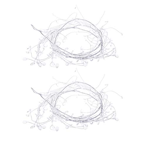 IPOTCH 2pcs 130cm Transparent Beaded Garlands Wire String Acrylic Crystal Beads Perfect To Create Any Romantic Atmospheres