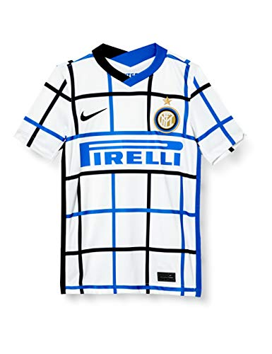Nike Inter Y Nk BRT Stad JSY SS AW, T-Shirt Unisex-Bambini