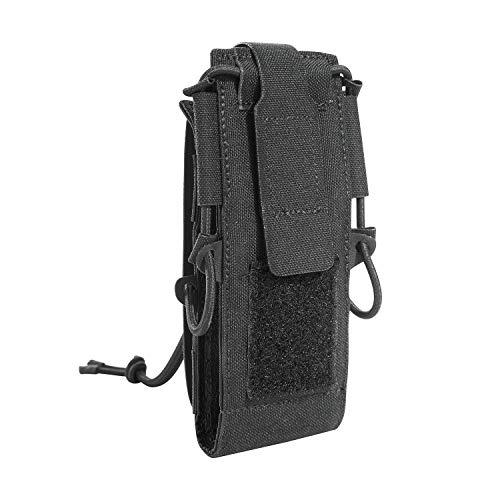 Tasmanian Tiger TT Digi Radio Pouch Molle-kompatible, extrem Flache Tasche für Digitale Funkgeräte mit Display-Schutz aus Vinyl (Black)