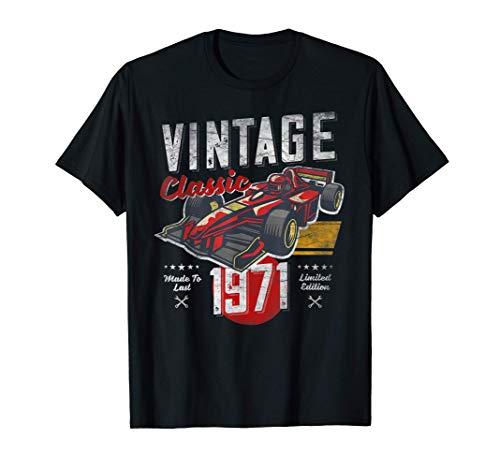 Vintage nacido en 1971, 50 cumpleaños, Grand Prix Race Car Camiseta