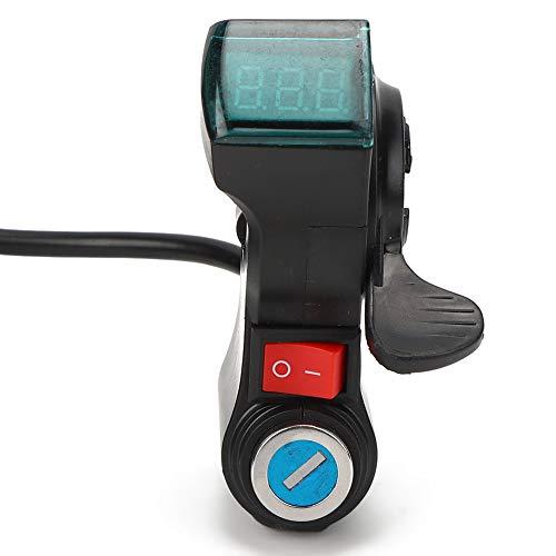 RiToEasysports Botón de Encendido/Apagado del Interruptor del Manillar de Bicicleta eléctrica con Pantalla de Encendido para Bicicleta eléctrica