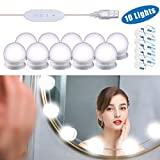 Mirror Lights, Hollywood Style LED Vanity Mirror Lights Kit with 10 Dimmable Bulbs, USB Cable Vanity Lights for Mirror with 3 Color Modes & 10 Adjustable Brightness£¨Mirror & USB Charger Not Include)
