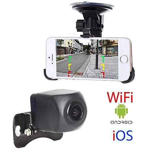 HSRpro RFK-70 WiFi Rückfahrkamera für PKW Auto, Wohnmobil und Transporter - Bis zu 5 Jahre Garantie, Kompatibel mit Android und iOS für Handy und Tablet - Car Rear View Camera