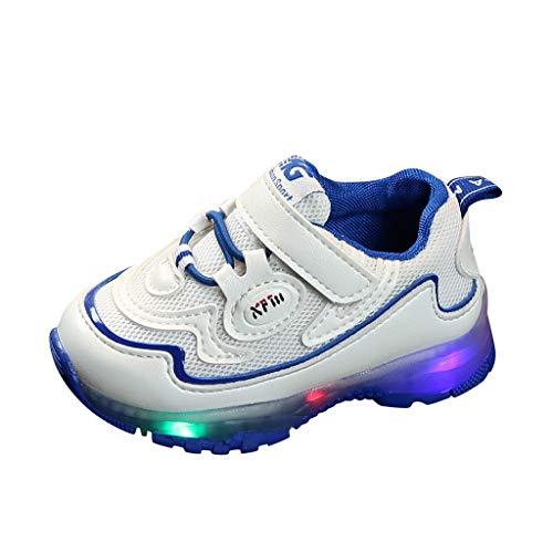 Sneaker, leuchtend, für Mädchen, Jungen, Sportschuhe, LED-Licht, Kinder, modisch, Unisex, Laufen 26/3.5-4ans blau
