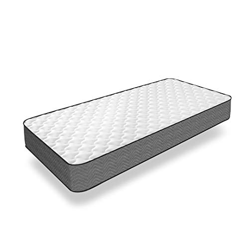 Good Nite Sprung Mattress with 3 cm Sponge Fire Resistant Fabric Medium Hardness 18cm Thick (90 x 190cm)