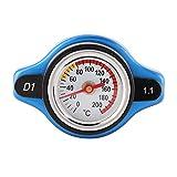Tapón para radiador de Coche Cubierta termostática Tapa de clasificación de presión del automóvil con medidor de Temperatura del Agua Universal(1.1bar)