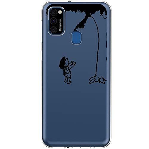 Beryerbi – Carcasa para Samsung Galaxy M31, de silicona transparente, TPU, ultrafina, antigolpes, 360°, transparente, suave carcasa trasera para Samsung Galaxy M31 Beige G