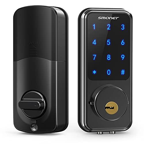 Smart Lock,SMONET Touchscreen Keypad Deadbolt,Keyless Door Entry for...