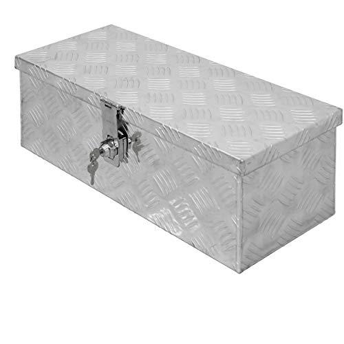 ECD Germany Caja de Aluminio Multiusos 57 x 22 x 19 cm Resistente a la Corrosión con Sistema de Cierre Cajón de Almacenamiento de Herramientas Maletín Seguridad y Transporte fácil Montaje en Camión