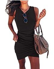 فستان GAGA نسائي ضيق غير منتظم متقاطع بدون أكمام للنادي Mini Dres