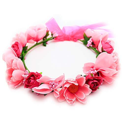 花かんむり 花冠 花かんむり ピンクドドレス 髪飾り コサージュ ウエディング ドレス花冠 fhkan001pk