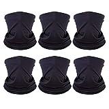 6 Pack Unisex Neck Gaiter Warmer for Men Women, Winter...