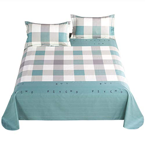 Stripe Coarse Double Cloth Bed Sheet, Various Sizes Keeping You Cool & Comfortable...