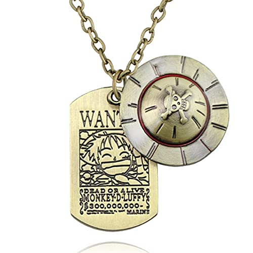 One Piece Jewelry Luffy Necklace Anime Pendant Jewelry Charms Birthday Gifts for Teens Girl/Boys/Women/Men/Kids