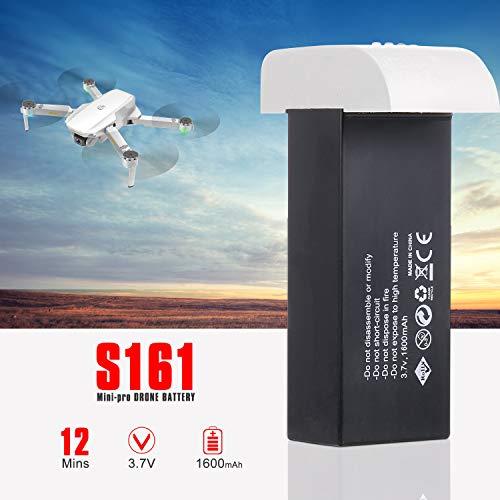 Godyluck- para CSJ S161 Mini Pro Drone RC Drone Batería 3.7V 1600mAh Batería de Repuesto Lipo Batería Modular para RC Quadcopter