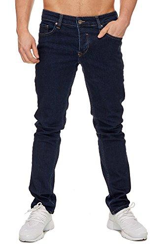 Elara Herren Jeans Slim Fit Hose Denim Stretch Chunkyrayan 16533-Dunkelblau-34W / 34L