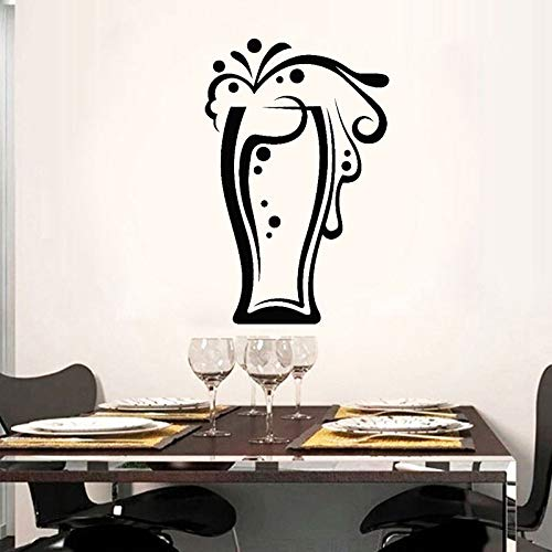 Gläser Getränke Sammlung Bierglas Vinyl Schneiden Aufkleber Wandaufkleber Steuern Dekor Küche Selbstklebende Transferfolie Wandbild 1 27x42 cm
