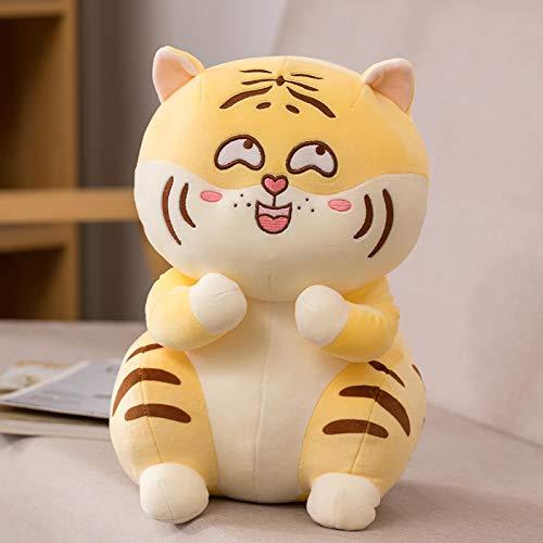 Tigre de Peluche, Lindo muñeco de Tigre Travieso, Regalos de Peluche para niños niñas, niños 33 cm amarillo1