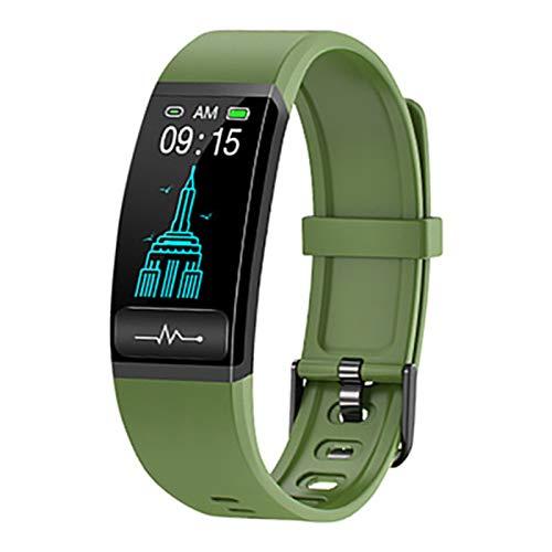 FZXL 2021 M8 AI Temperatura de electrocardiograma Reloj Inteligente Monitor de Ritmo cardíaco EKG PPG Pulsera Inteligente Pulsera de la presión Arterial Pulsera,E