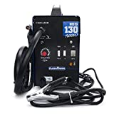 SUSEMSE MIG 130 AC Welder Gasless Welding Machine Flux Core Wire Automatic Feed No Gas Welder Machine Blue (110/220V, 60HZ)