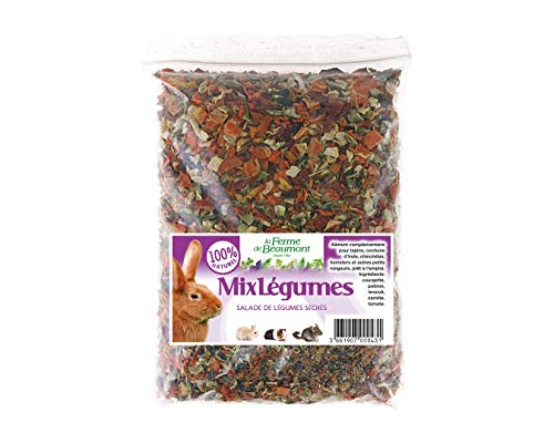 Mix Légumes Salade de légumes séchés Lapins, rongeurs 300 GR