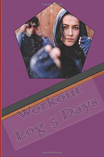 Workout Log 5 Days: Training Log Book Notes With Woman Cover