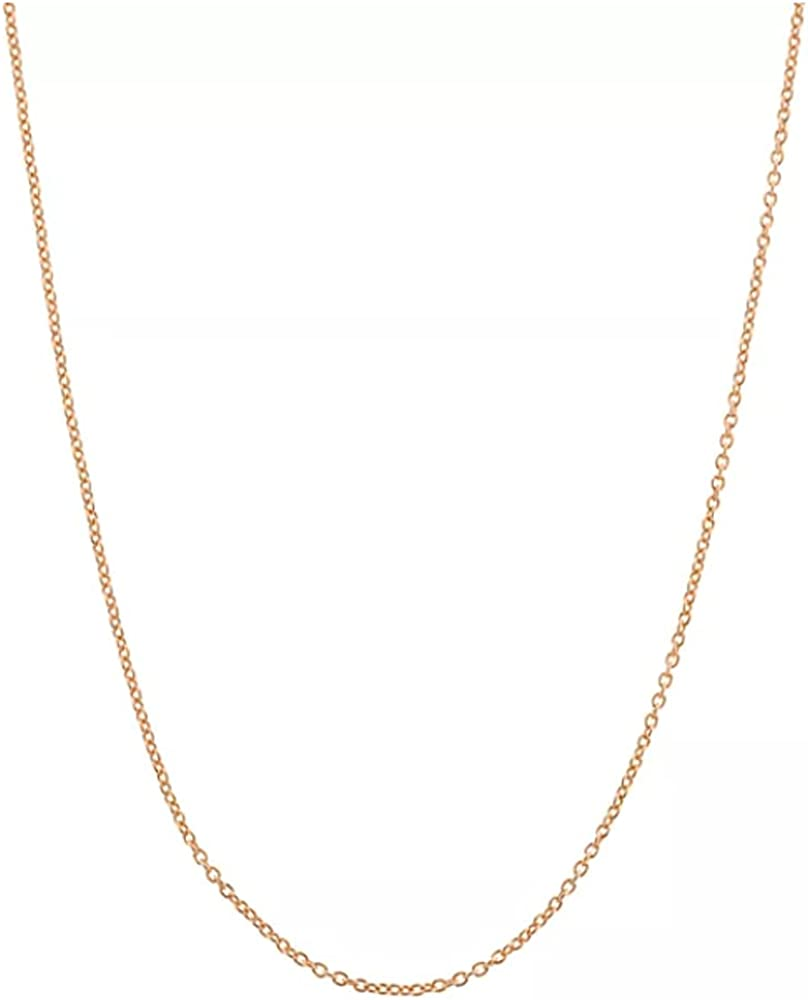 14K Gold plated 2MM cable chain necklace, Delicate dainty gold necklace for women men, Everyday simple chain necklace alone or pendant addition, 15-30 inch Available