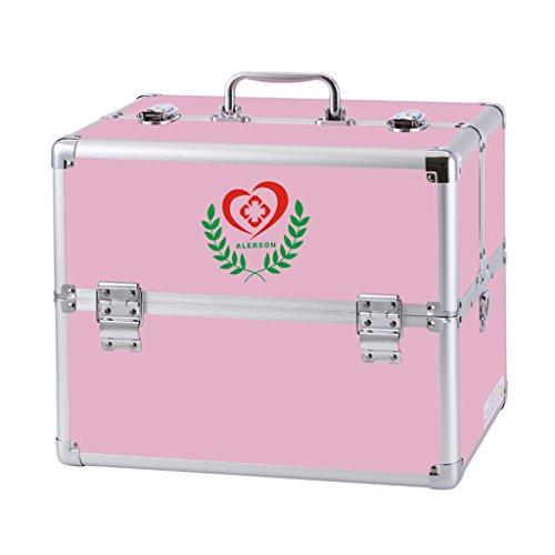 Medicine box Huishoudelijke Emergency Aluminium legering Drie lagen Dubbele open wachtwoord medicijnkist Hoge capaciteit EHBO-kit Medische kast Medisch onderzoek doos Nooddoos medicijndoos Drug opbergdoos