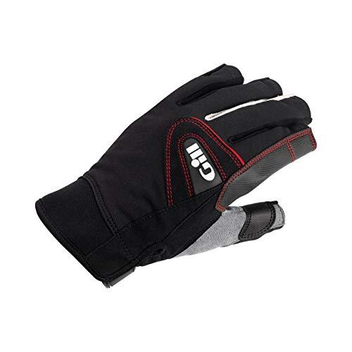 Gill Championship Kurzfinger-Segelyacht- und Jollenhandschuhe Schwarz - Easy Stretch UV-Sonnenschutz und SPF-Eigenschaften