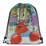 Aizawa Confused Mr. Krabs Blur Meme Drawstring Bags Sport Gym Backpack Storage Goodie Cinch Bags