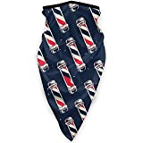 Double Cheese Vintage Barber Pole Flag Neck Gaiter Warmer M�