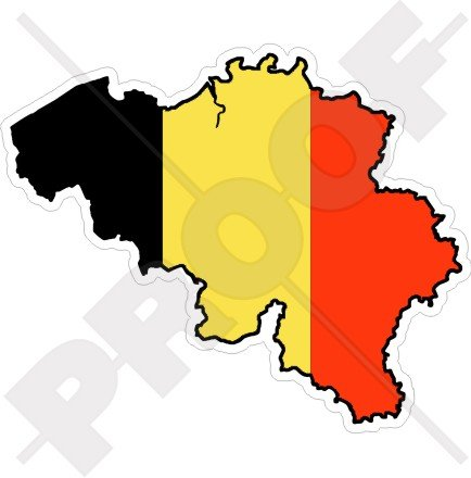 BELGIUM Belgian Map-Flag 4.7