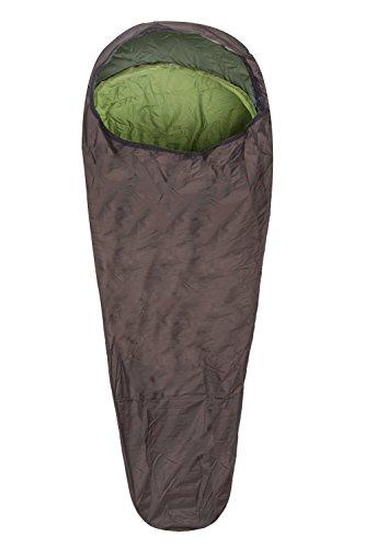 Mountain Warehouse Bivvy Sleeping Bag - 225cmX75cm, Compact Camping Bag - For Kids & Adults Khaki