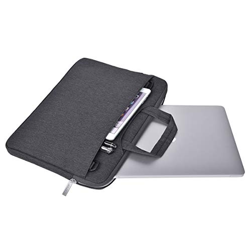 MOSISO Laptop Schultertasche Kompatibel mit 13-13,3 Zoll MacBook Pro, MacBook Air, Notebook Computer, Polyester Flapover Messenger Aktentasche Handtasche, Space Grau - 4