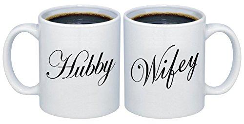Hubby - Wifey Valentines Day Couples Coffee Mugs 11 oz. MCPL105 (Set of 2)
